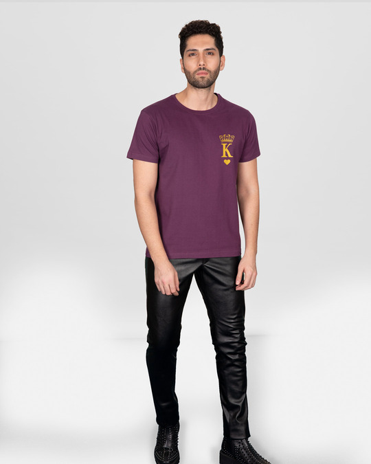 Shop King Pocket Gold Half Sleeve T-Shirt-Full