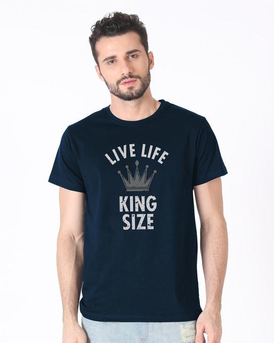 Shop King Size Half Sleeve T-Shirt-Back