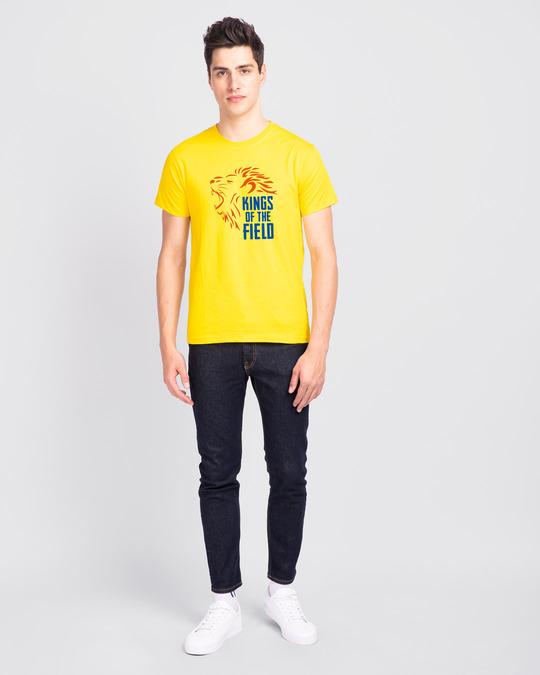 Shop Kings Of The Field Half Sleeve T-Shirt Pineapple Yellow-Design