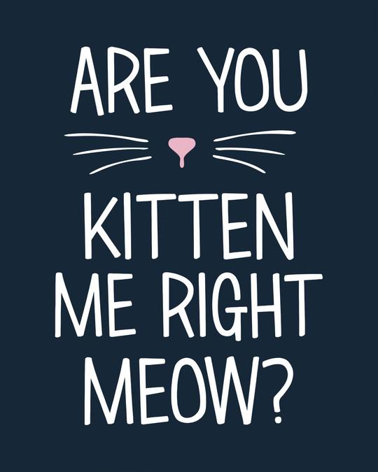 Shop Kitten Me Basic Round Hem T-Shirt