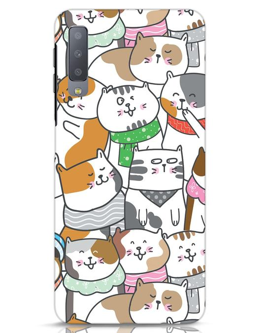 Shop Kitties Samsung Galaxy A7 Mobile Cover-Front