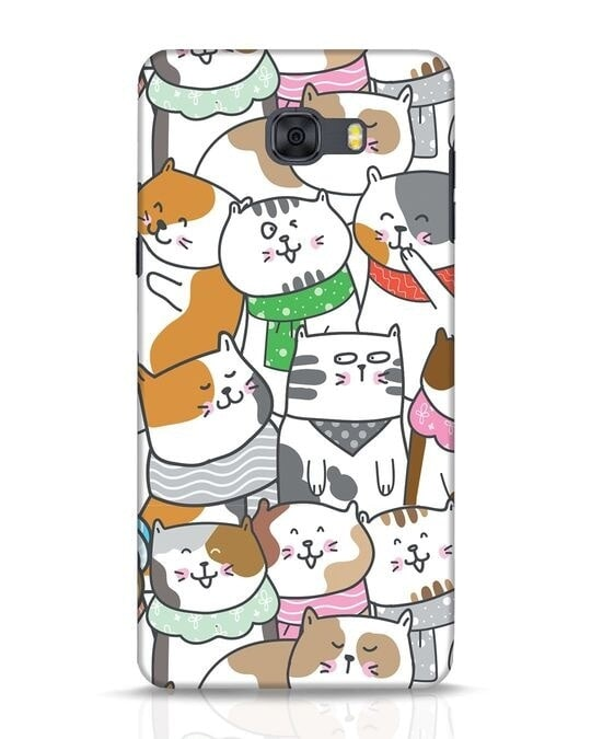 Shop Kitties Samsung Galaxy C9 Pro Mobile Cover-Front