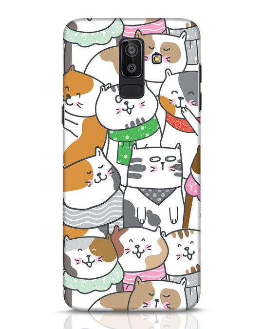 Shop Kitties Samsung Galaxy J8 Mobile Cover-Front