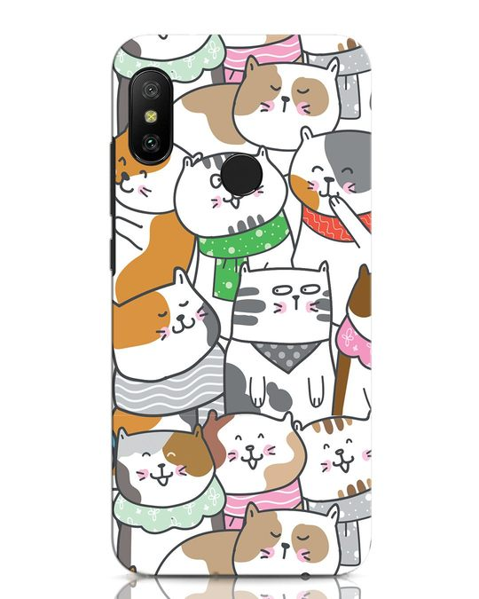 Shop Kitties Xiaomi Redmi Note 6 Pro Mobile Cover-Front