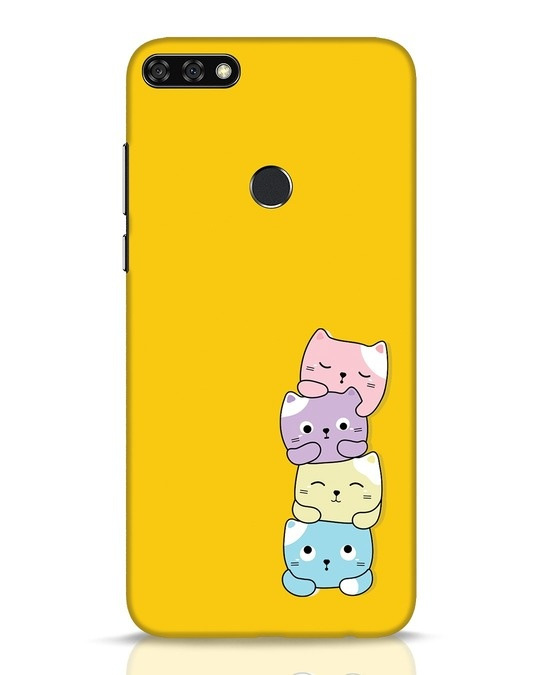 Shop Kitty Cats Huawei Honor 7C Mobile Cover-Front