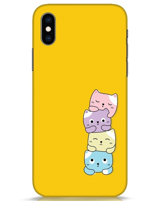Shop Kitty Cats iPhone XS Mobile Cover-Front