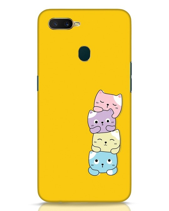 Shop Kitty Cats Oppo A7 Mobile Cover-Front