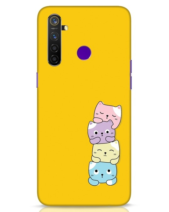 Shop Kitty Cats Realme 5 Pro Mobile Cover-Front