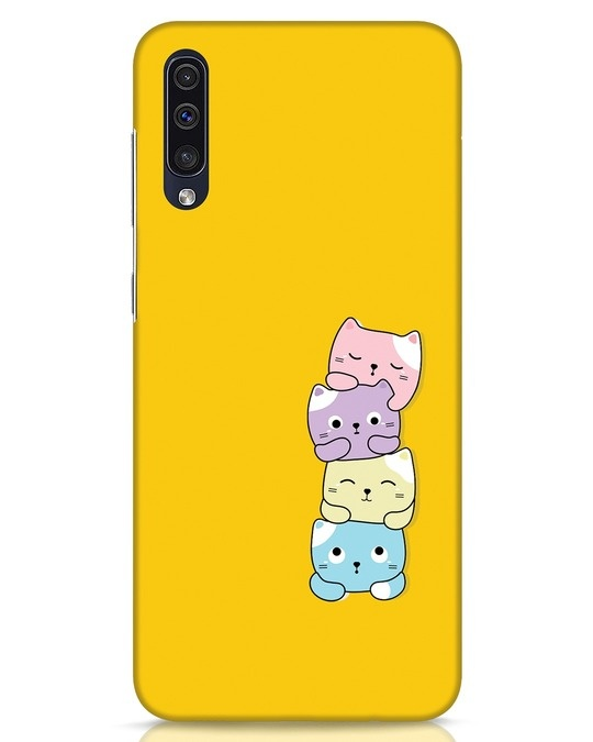 Shop Kitty Cats Samsung Galaxy A50 Mobile Cover-Front
