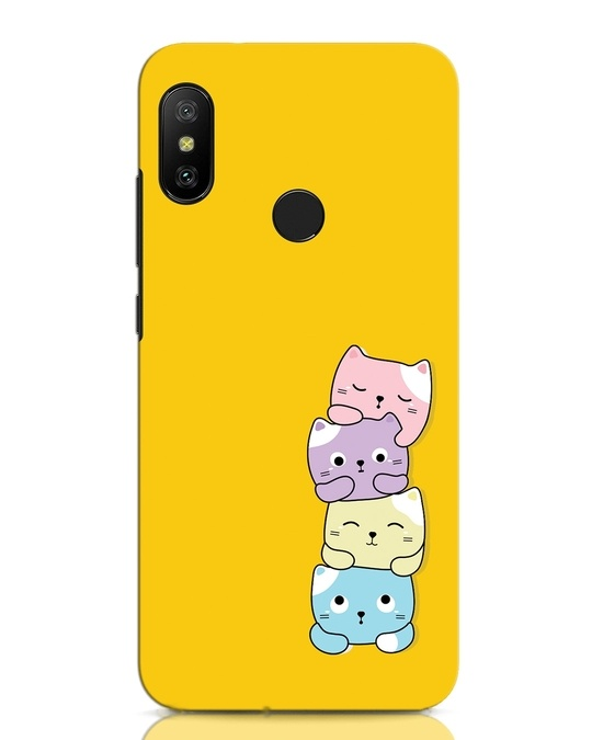 Shop Kitty Cats Xiaomi Redmi Note 6 Pro Mobile Cover-Front