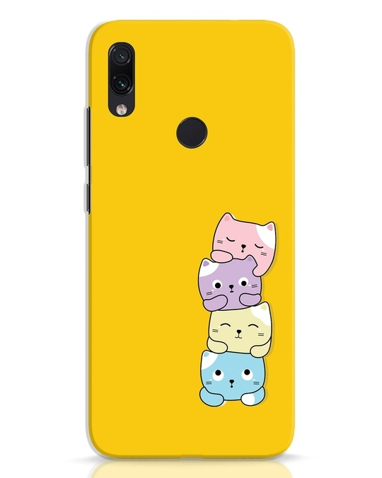 Shop Kitty Cats Xiaomi Redmi Note 7 Pro Mobile Cover-Front