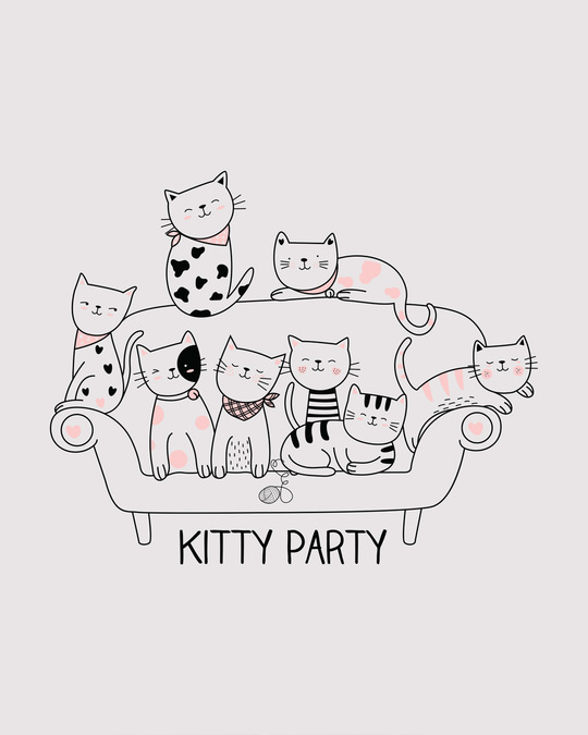 Shop Kitty Party Boyfriend T-Shirt