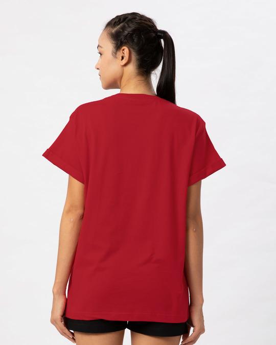 Shop Kitty Party Boyfriend T-Shirt-Back