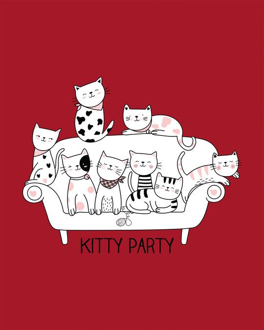 Shop Kitty Party Boyfriend T-Shirt-Full