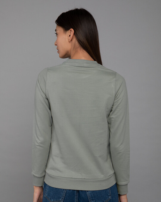 Shop Kitty Pocket Love Fleece Light Sweatshirts-Back