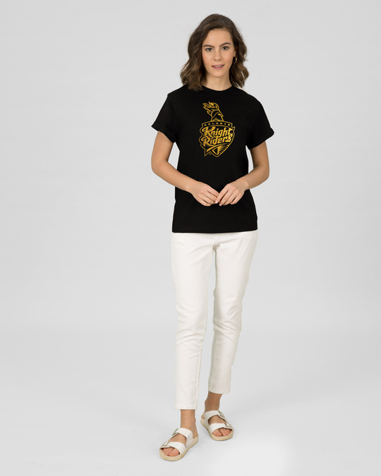 Shop KKR Foil Logo Boyfriend T-Shirt-Design