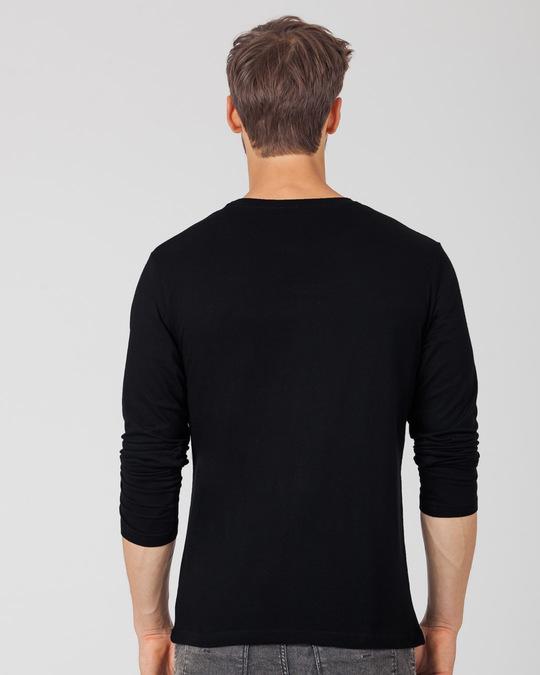 Shop Kkr Foil Logo Full Sleeve T-Shirt-Back