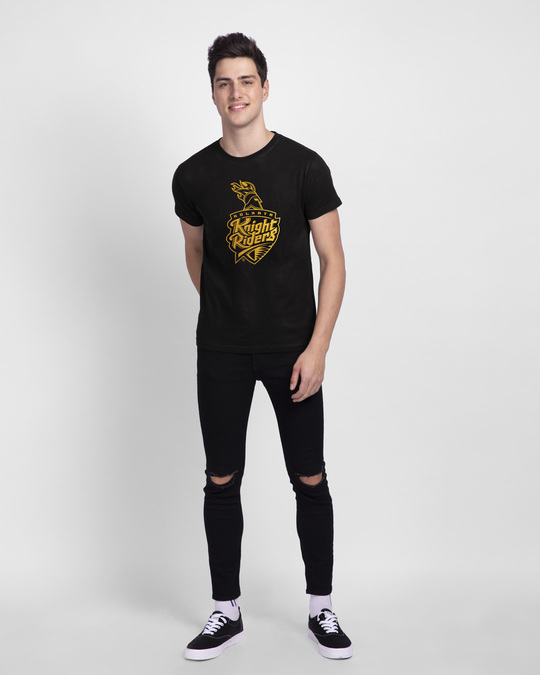 Shop KKR Foil Logo Half Sleeve T-Shirt-Design