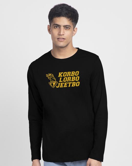 Shop KLG Logo Full Sleeve T-Shirt-Front