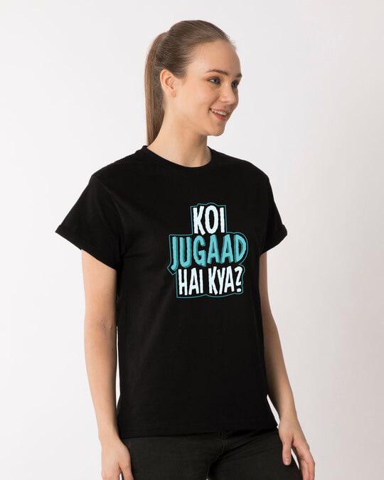 Shop Koi Jugaad Hai Kya Boyfriend T-Shirt-Back