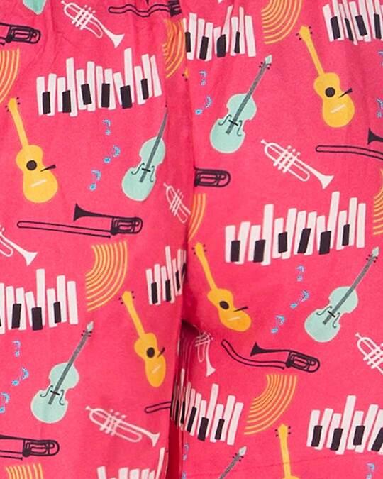 Shop Smugglerz Women's Jazz Music Boxer Pink
