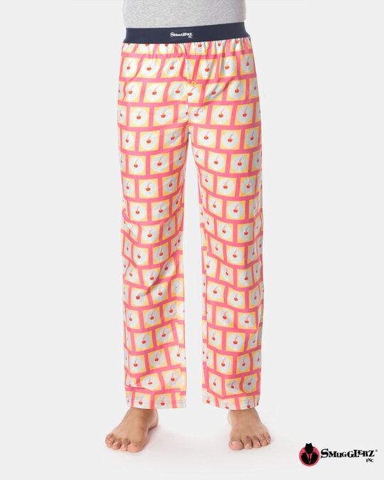 Shop Smugglerz Lady & Wine Pyjamas Pink-Front