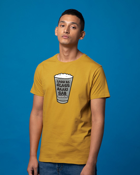 Shop Lassi Da Glass Half Sleeve T-Shirt-Full