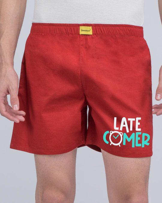 Shop Latecomer Side Printed Boxer-Back