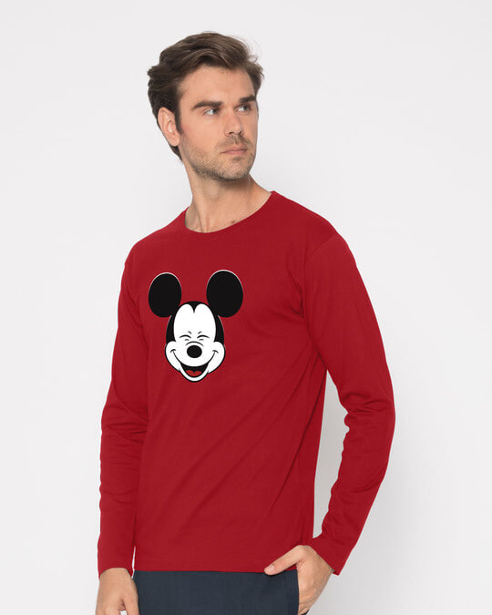 Shop Laughing Mickey Full Sleeve T-Shirt (DL)-Back