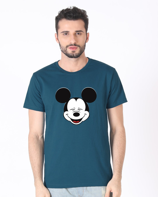Shop Laughing Mickey Half Sleeve T-Shirt (DL)-Back