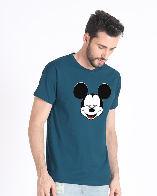 Shop Laughing Mickey Half Sleeve T-Shirt (DL)-Design