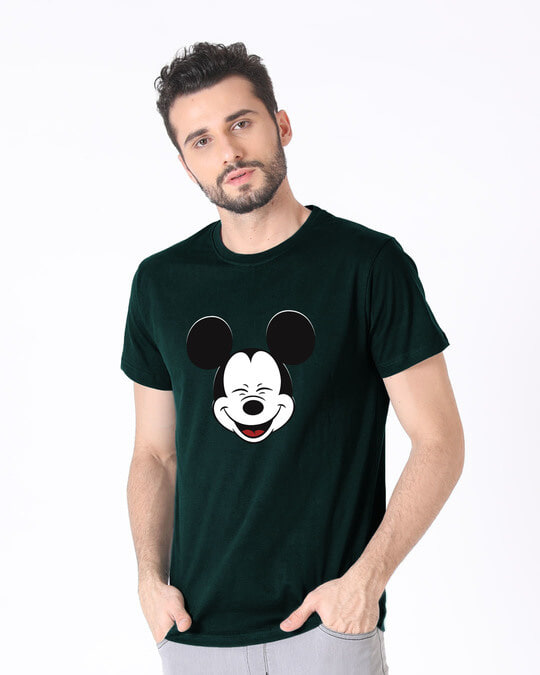 Shop Laughing Mickey Half Sleeve T-Shirt (DL)-Full