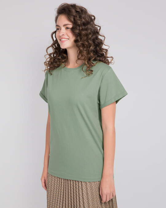 Shop Laurel Green Boyfriend T-Shirt-Back