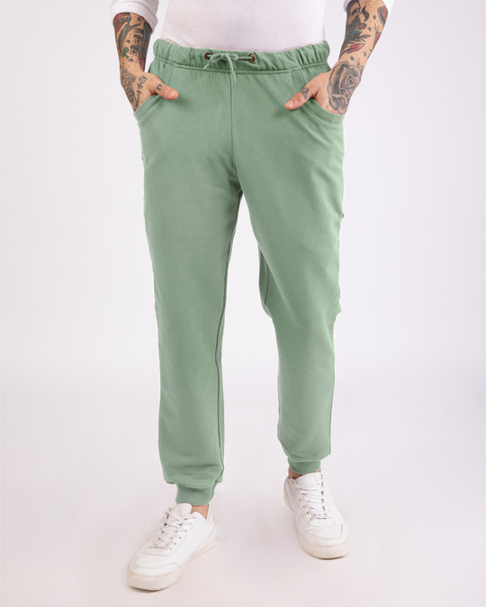 Shop Laurel Green Casual Jogger Pant-Front