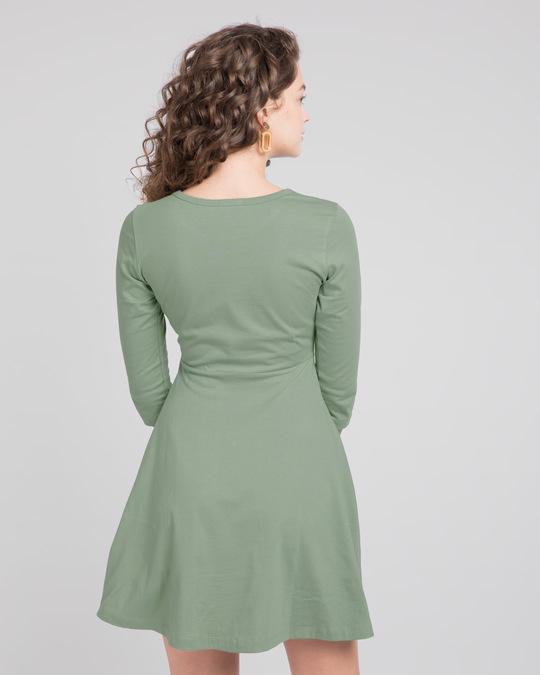Shop Laurel Green Flared Dress-Design
