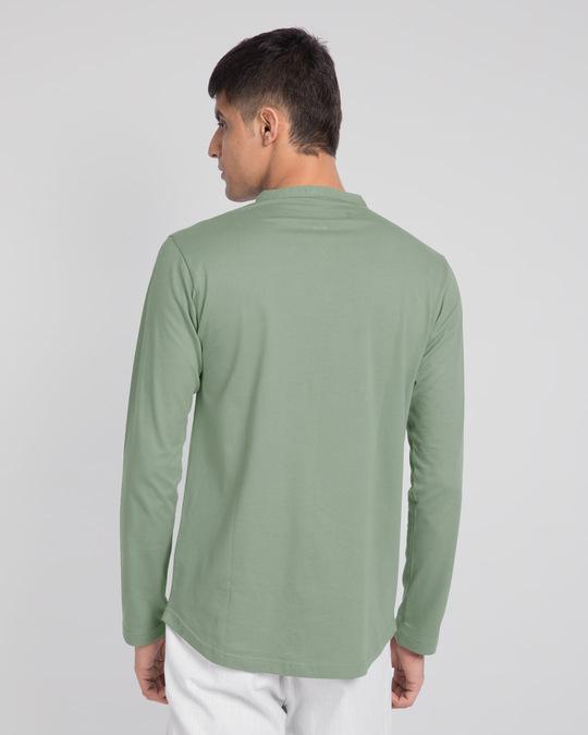Shop Laurel Green Full Sleeve Henley T-Shirt-Design