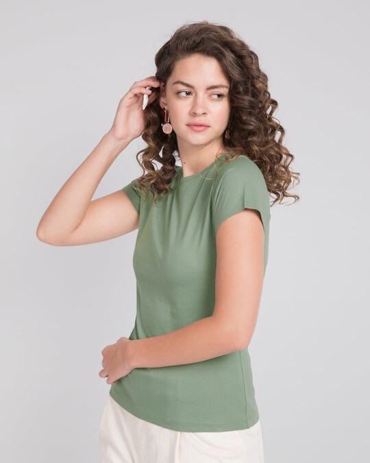 Shop Laurel Green Half Sleeve T-Shirt-Back