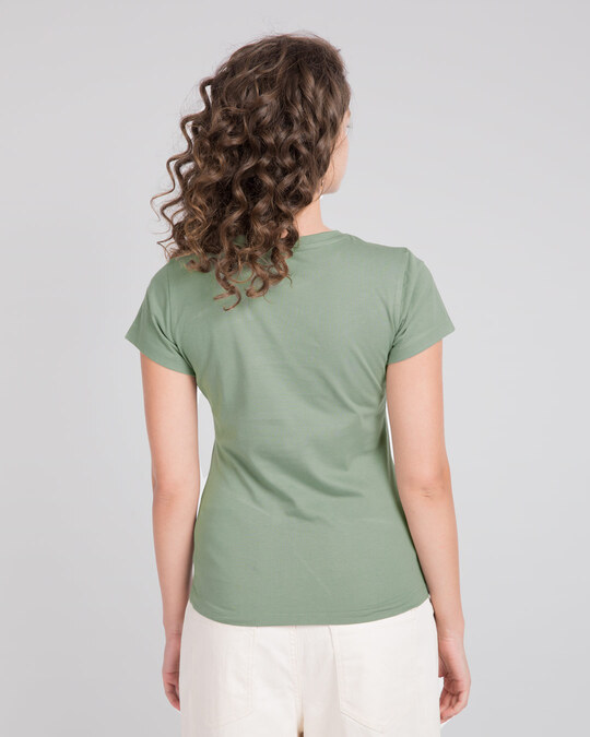 Shop Laurel Green Half Sleeve T-Shirt-Full