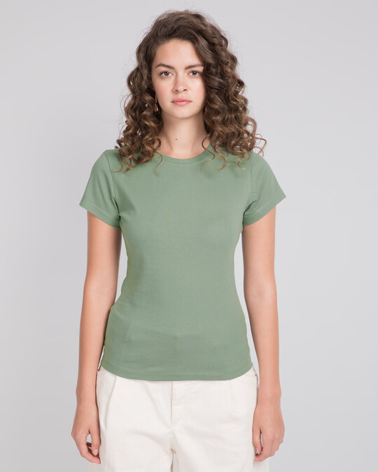 Shop Laurel Green Half Sleeve T-Shirt-Front