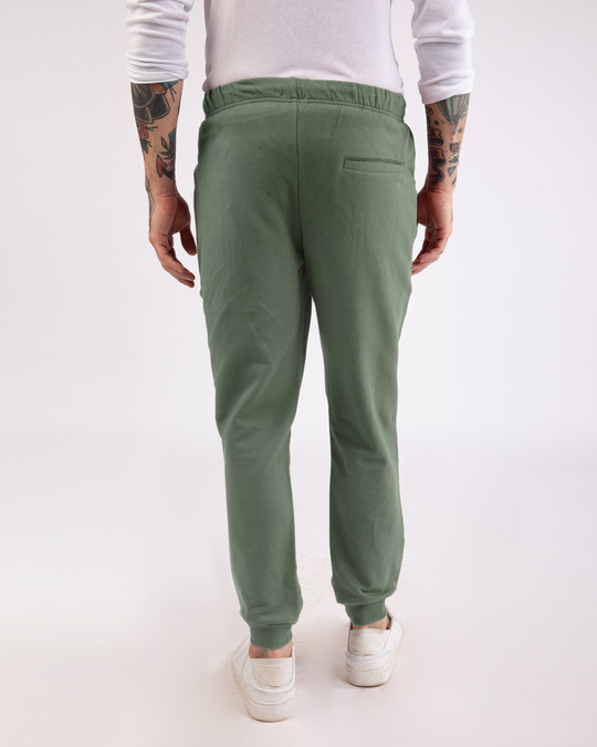 Shop Laurel Green Round Pocket Joggers Pants-Design