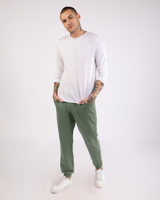 Shop Laurel Green Round Pocket Joggers Pants-Full