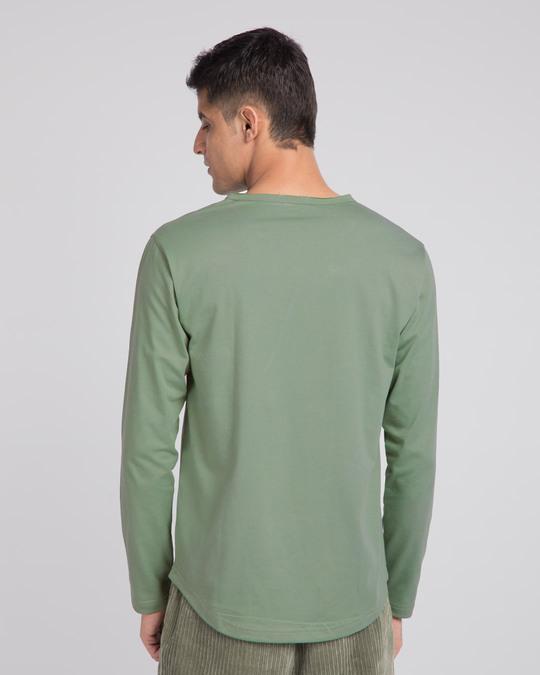 Shop Laurel Green Slit Neck Full Sleeve Henley T-shirt-Design