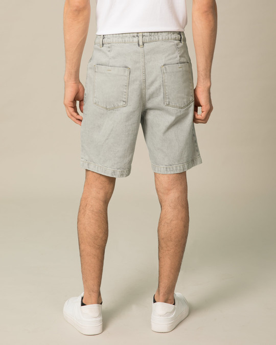 Shop Lava Grey Denim Shorts-Design