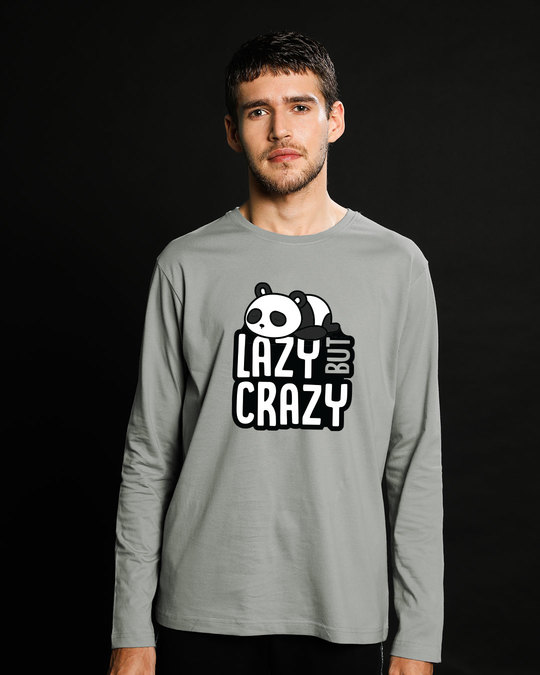 Shop Lazy But Crazy Full Sleeve T-Shirt-Front