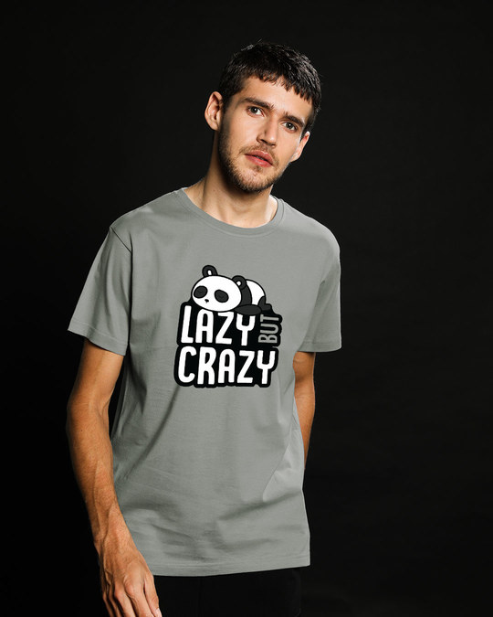 Shop Lazy But Crazy Half Sleeve T-Shirt-Back
