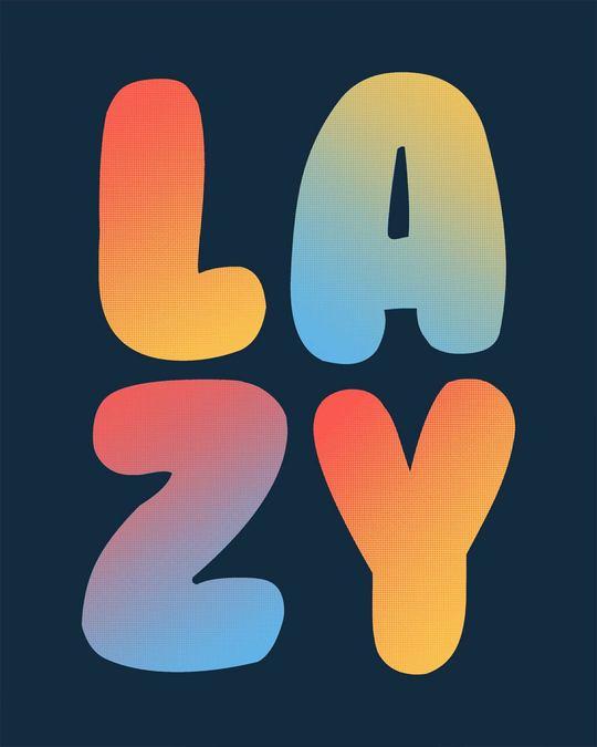 Shop Lazy Colorful Boyfriend T-Shirt