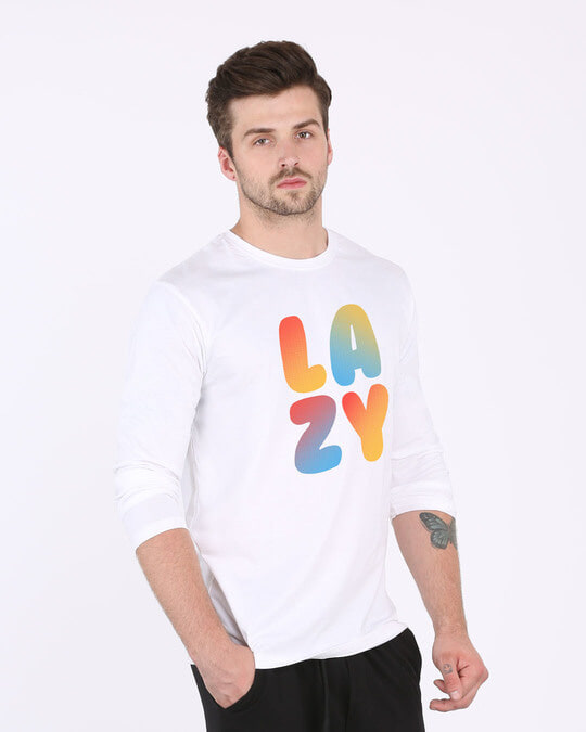 Shop Lazy Colorful Full Sleeve T-Shirt-Back