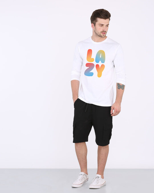 Shop Lazy Colorful Full Sleeve T-Shirt-Full