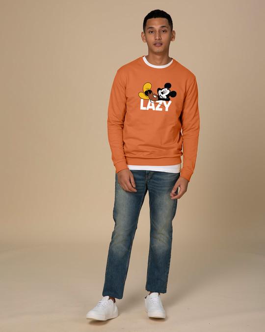 Shop Lazy Mickey Crew Neck Sweatshirt (DL)-Design