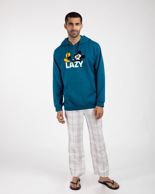 Shop Lazy Mickey Fleece Hoodies (DL)-Design